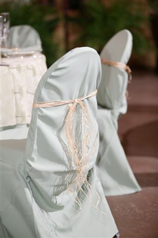 Solid Chair Covers With Raffia Tie ~ $8.50+ each
