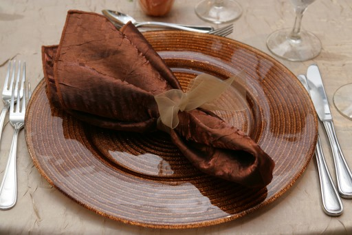 Copper Helix Glass Charger Plate ~ $11.75+** each
