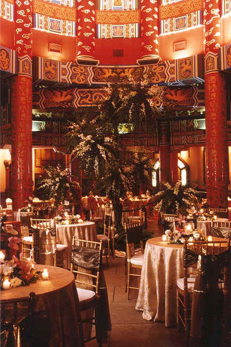 Table décor and table set up at the Great Hall of China