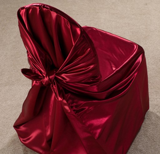 Burgundy Satin Pillow
