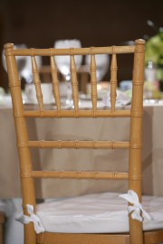 Natural Chiavari Chairs with Cushions ~ $12.75+ each