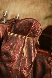 Crushed Romance Chair Covers With Rope Tie ~ $12.00+ each
