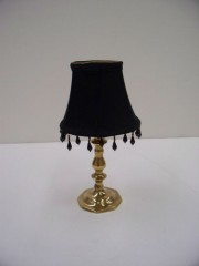 Stylized Lamp With Beaded Shade