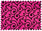 Hot Pink Flocked Scroll